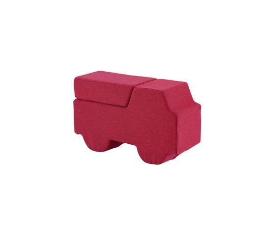 Softruck | Footstool Pink by Ligne Roset | Kids stools