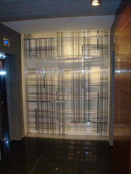 Bespoke Room Dividers In Brass by YDF | Space dividing systems