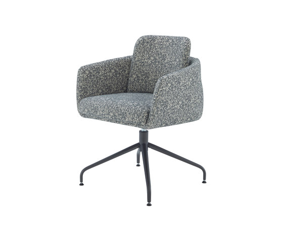 Tadao | Carver Chair Central Pedestal - Anthracite Metal by Ligne Roset | Chairs