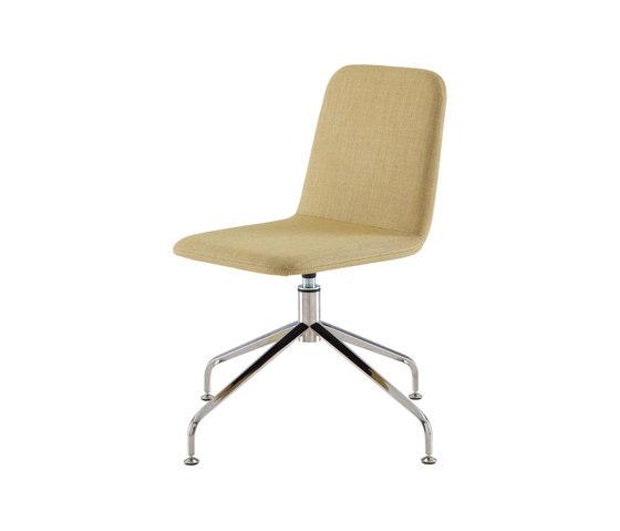 Tadao | Desk Chair Central Pedestal - Brilliant Chrome by Ligne Roset | Chairs