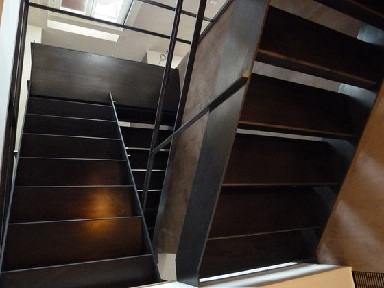 Raw Steel Staircase by YDF | Staircase systems