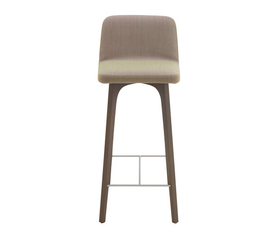 Vik | High Bar Chair Ash Grey-Stained Ash With Handle by Ligne Roset | Bar stools