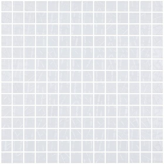 Aniversary - Interlocked White Aniversary Mix de Hisbalit | Mosaïques verre