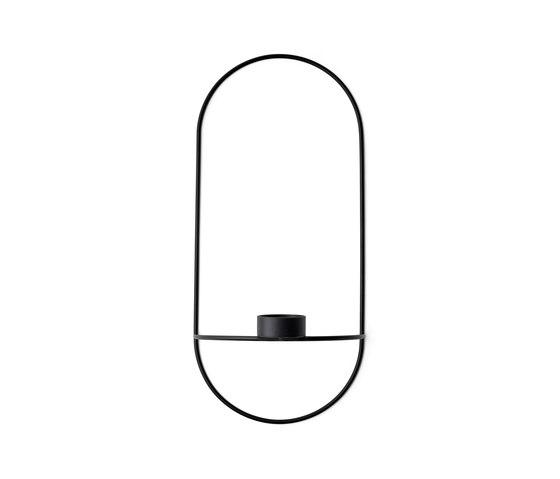 POV Oval Tealight Candle Holder | Black by MENU | Candlesticks / Candleholder