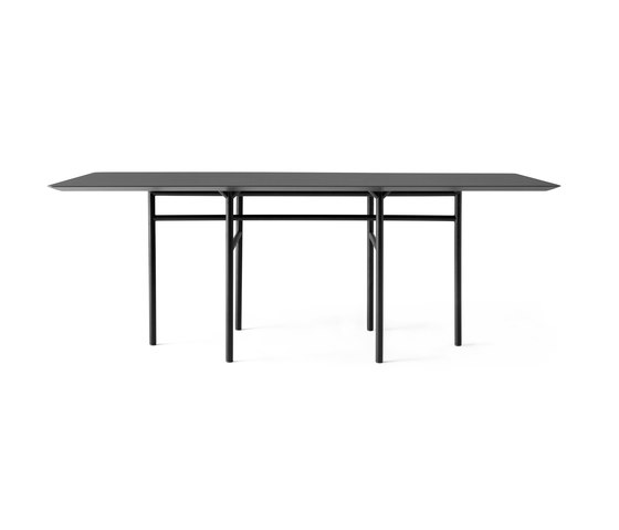 Snaregade Dining Table | Rectangular Black/ Charcoal de MENU | Tables de repas