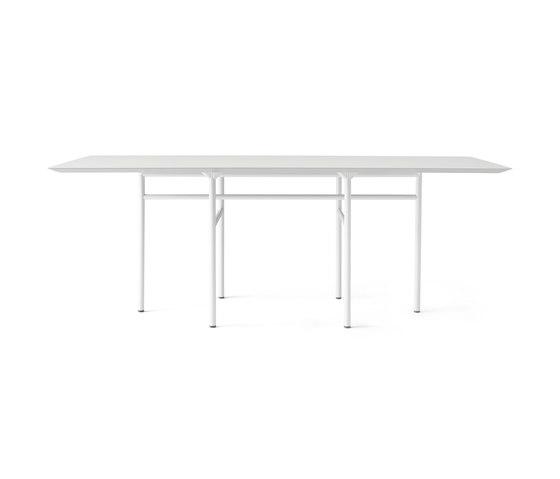 Snaregade Dining Table | Rectangular Light Grey/Mushroom by MENU | Dining tables