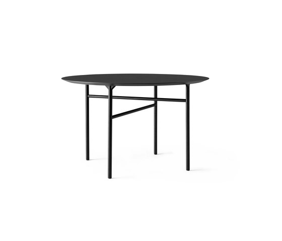 Snaregade Dining Table | Round Ø120 cm Black/ Charcoal by MENU | Dining tables