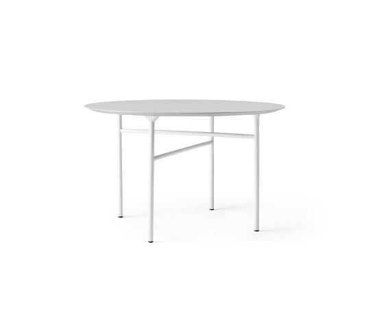 Snaregade Dining Table   Round Ø120 cm Light Grey/Mushroom by MENU   Dining tables