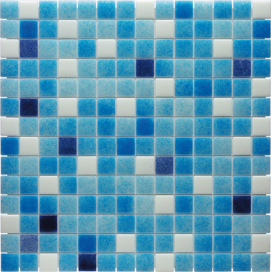 Water Mix - Caspio* by Hisbalit | Glass mosaics