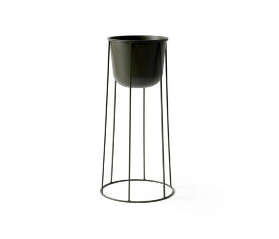 Wire Base | 606 Olive de MENU | Pots de fleurs