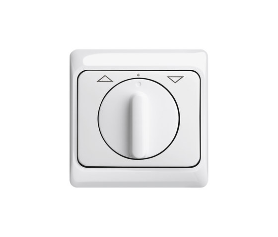 Blind switch/push-switch with rotary knob by Busch-Jaeger | Shuter / Blind controls