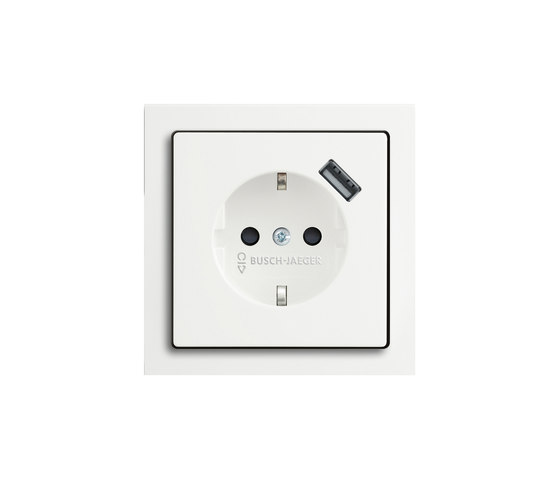 SCHUKO® USB socket outlet di Busch-Jaeger | Prese Schuko