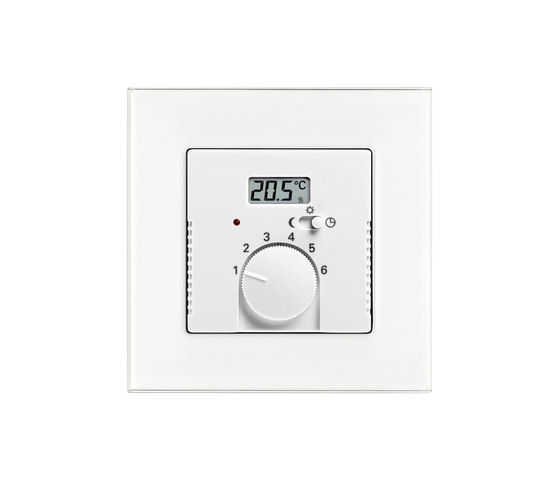 Room temperature controller with value display by Busch-Jaeger | Heating / Air-conditioning controls