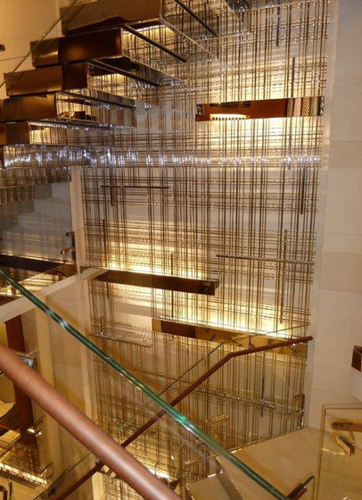 Bespoke Room Dividers In Brass by YDF | Sound absorbing room divider