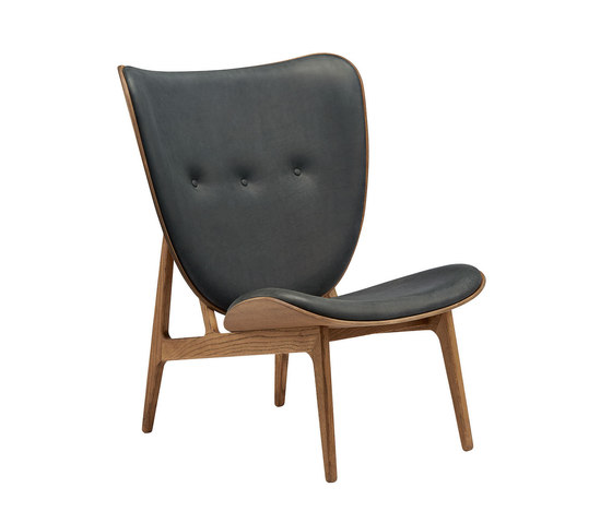 Elephant Chair, Smoked Oak / Vintage Leather Antrachite by NORR11 | Armchairs