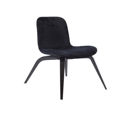 Goose Lounge Chair, Black / Velvet: Midnight Blue by NORR11 | Armchairs