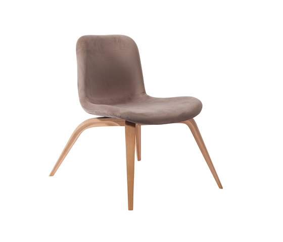 Goose Lounge Chair, Natural / Velvet: Taupe by NORR11 | Armchairs