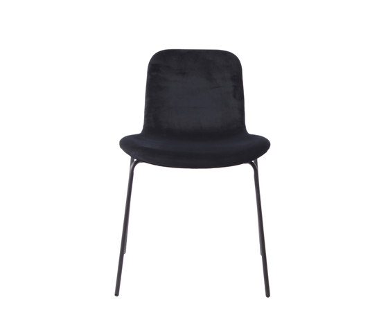 Goose Original Dining Chair, Black / Velvet: Midnight Blue de NORR11 | Sillas