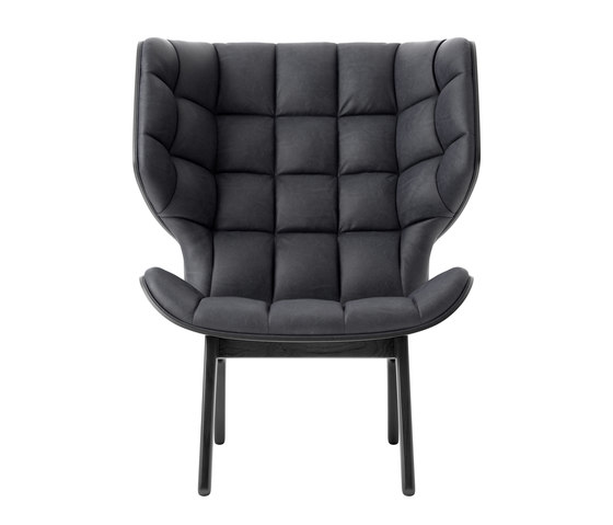 Mammoth Chair, Black / Vintage Leather Anthracite 21003 by NORR11 | Armchairs