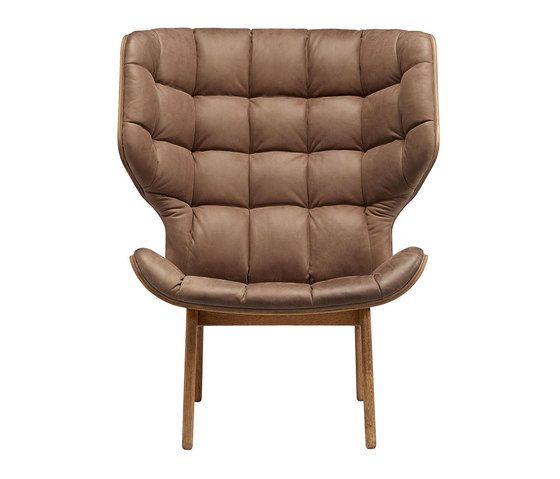 Mammoth Chair, Smoked Oak / Vintage Leather Dark Brown 21001 von NORR11 | Sessel