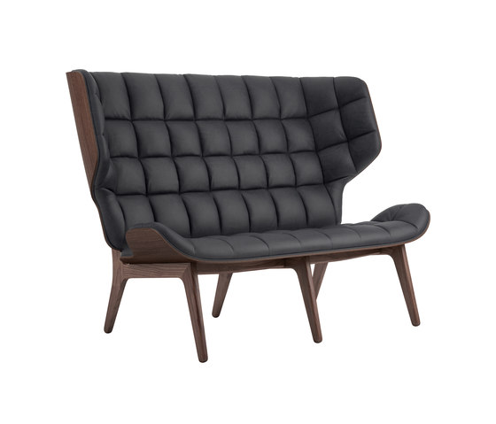 Mammoth Sofa, Dark Stained / Vintage Leather Anthracite 21003 by NORR11 | Sofas