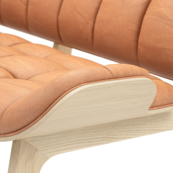 Mammoth Sofa, Natural / Vintage Leather Cognac 21000 by NORR11 | Sofas