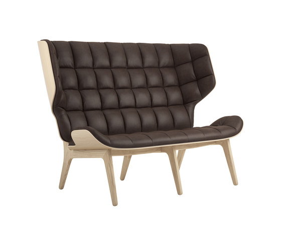 Mammoth Sofa, Natural / Vintage Leather Dark Brown 21001 by NORR11 | Sofas