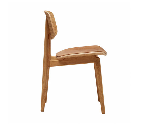 NY11 Dining Chair, Natural- Vintage Leather Camel de NORR11   Sillas