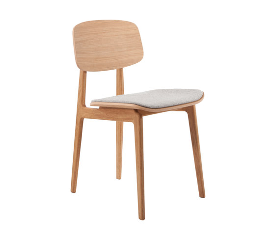 NY11 Dining Chair, Natural - Kvadrat Hallingdal65 116 by NORR11 | Chairs