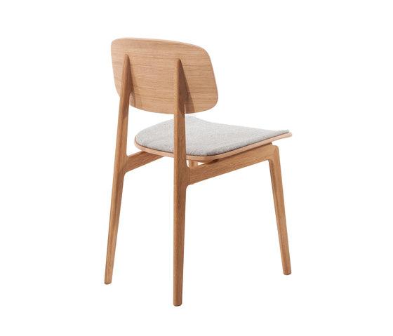 NY11 Dining Chair, Natural - Kvadrat Hallingdal65 116 de NORR11 | Chaises