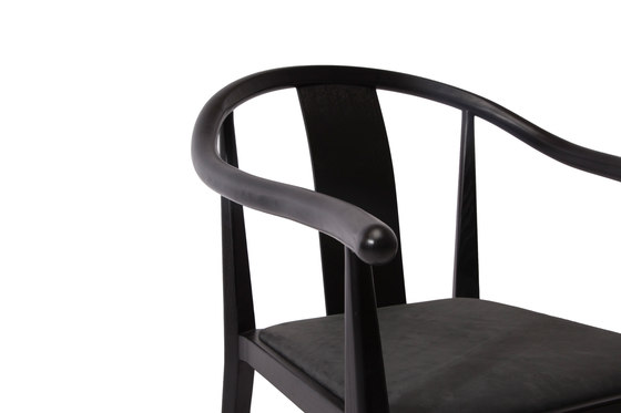 Shanghai Dining Chair, Black - Vintage Leather Anthracite by NORR11 | Chairs