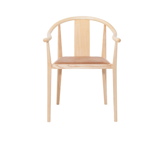 Shanghai Dining Chair, Natural - Vintage Leather Camel by NORR11 | Chairs