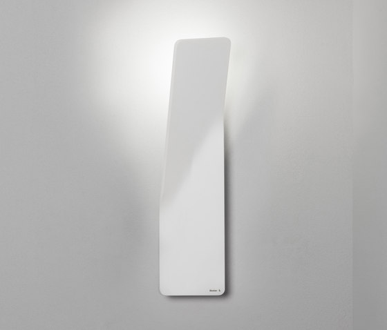 Bent wall left white di Dexter | Lampade outdoor parete