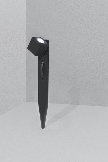 Dart black by Dexter   Outdoor floor-mounted lights