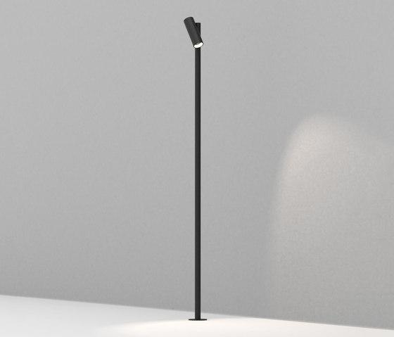 Vector Pole Black di Dexter | Lampade outdoor su pavimento