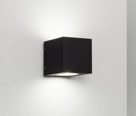 Cube XL frosted duo black di Dexter | Lampade outdoor parete