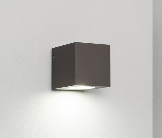 Cube XL frosted grey by Dexter | Outdoor wall lights