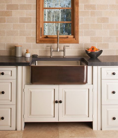 Copper/Stainless Farmhouse Sink by Stone Forest   Kitchen sinks