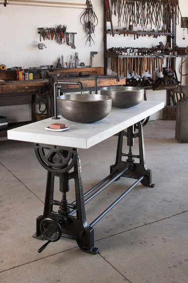 Industrial Console by Stone Forest | Kitchen sinks