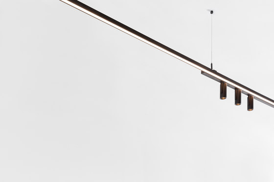 Pista Twin Brackets by Modular Lighting Instruments | Suspended lights