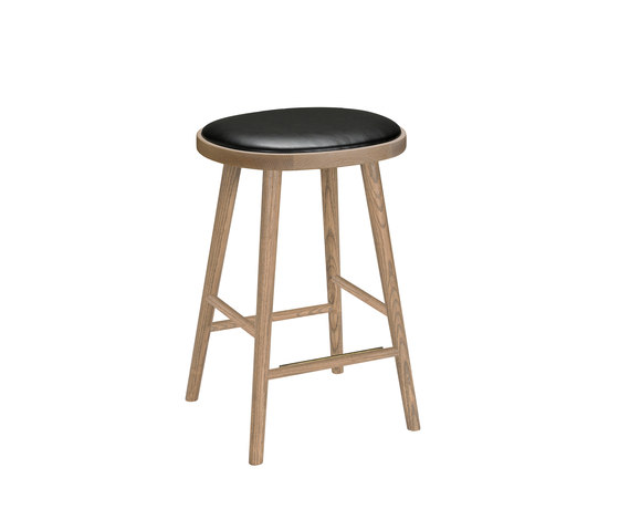 Colibri barstool 63cm oak grey, bonded leather black emb de Hans K | Taburetes de bar