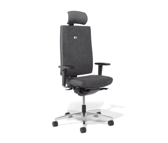 Linea Task Chair upholstered backrest by Viasit | Office chairs