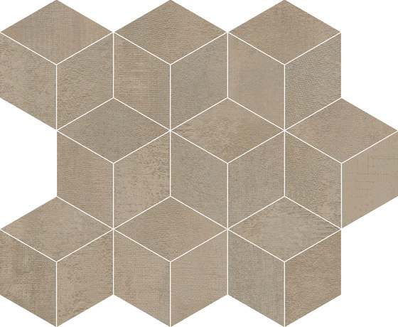 Frame Cube Taupe by KERABEN | Ceramic tiles