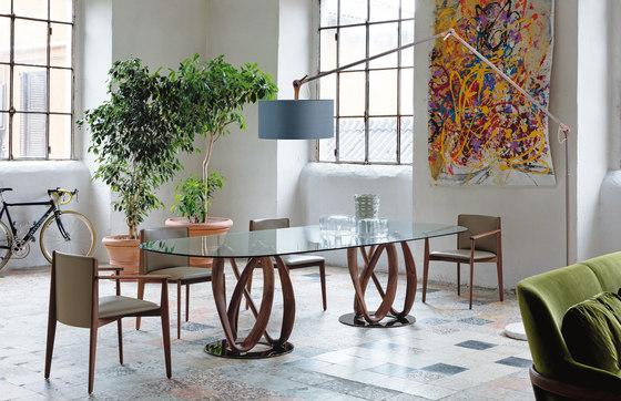 Infinity due basi piano cristallo - ovale di Porada | Tavoli pranzo