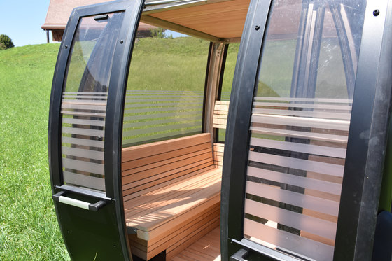 Sauna gondola by Küng Sauna + Spa | Saunas