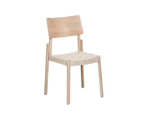 Flex chair Ash Blonde, linen webbing seat de Hans K   Sillas