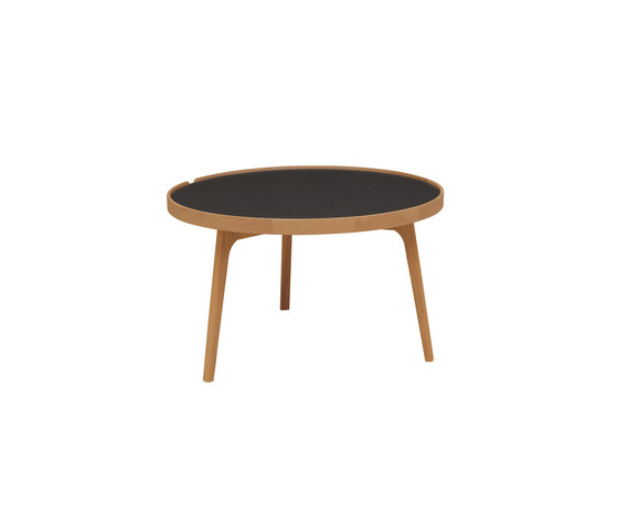 Racquet sofatable round 80cm oak oiled by Hans K | Coffee tables