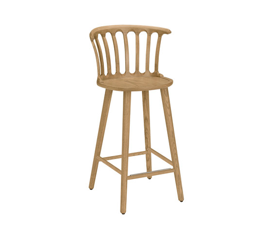 San Marco barchair 63cm oak oiled by Hans K | Bar stools