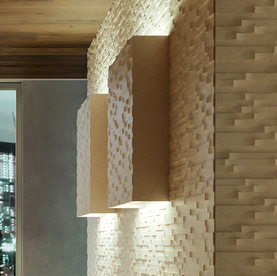 Complementi Luce   Strato quadre luce by Lithos Design   Natural stone tiles