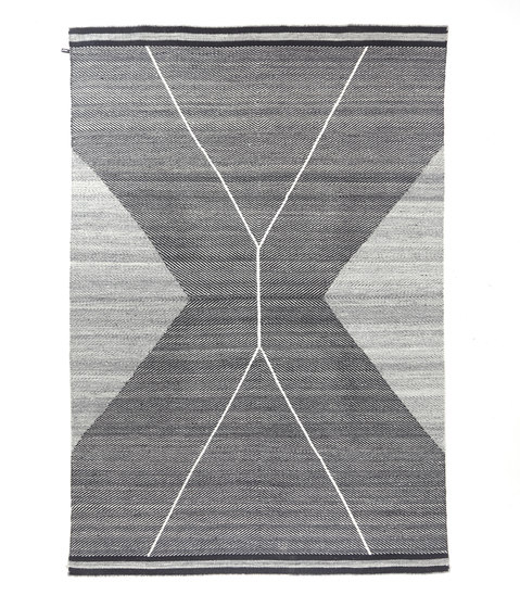 Crosshatch 303 | Black & White by Miinu | Rugs